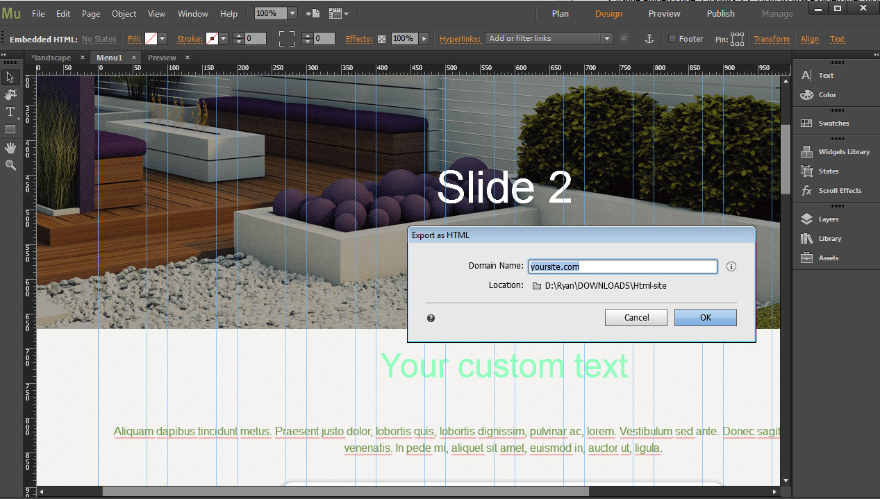 How to edit Muse templates - Template Monster Help