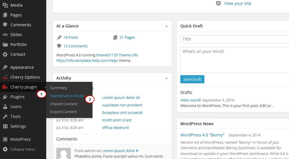 how to add site description in wordpress