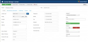 Joomla 3.x. How to edit the Contacts page text1