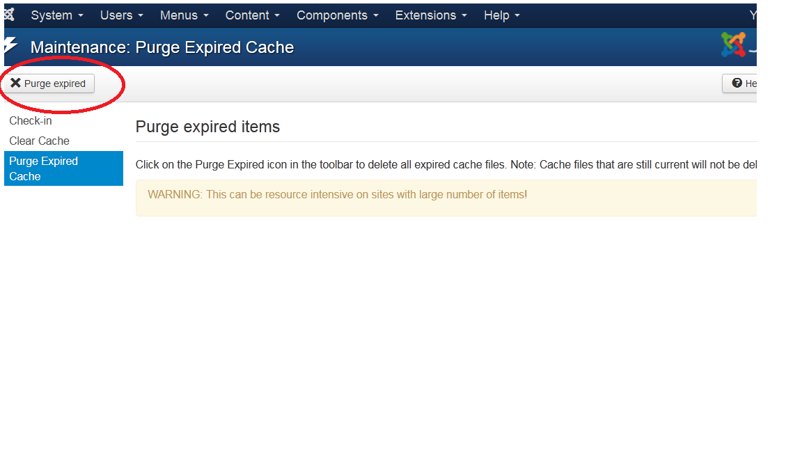 Joomla 3x how to clear cache template monster help screenshot2 ccuart Image collections