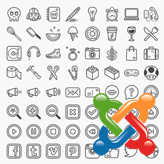 Joomla 3.x. How to replace FontAwesome icons with images