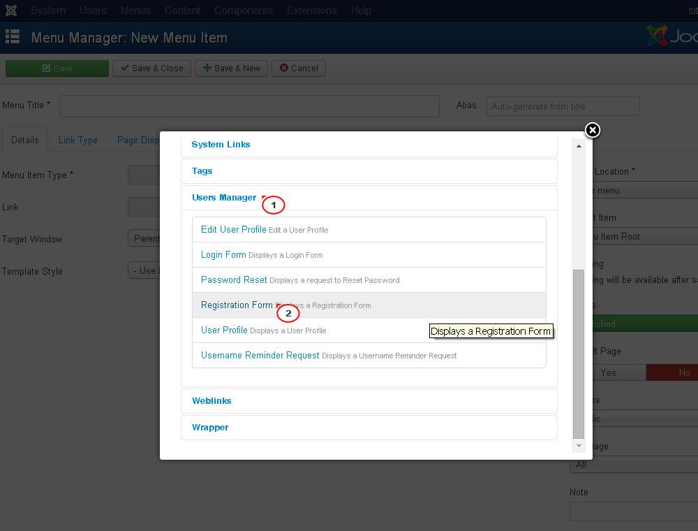 Joomla 3.x. Wie kann man die Benutzerregistrierung aktivieren und ...