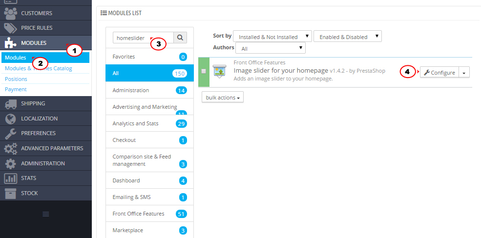 PrestaShop 1.6.x. How to edit front page - Template Monster Help on