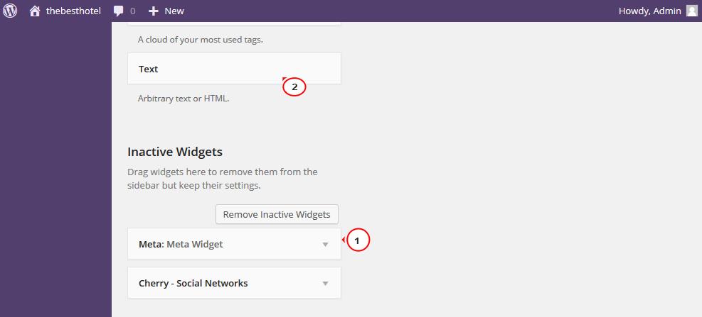 WordPress  How to work with Meta widget - Template Monster Help