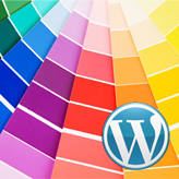 WordPress. How to change color scheme (css + images)