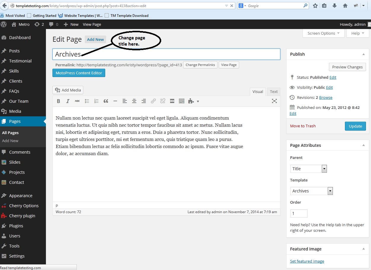 Wordpress How To Change Page Title But To Keep The Same Title In