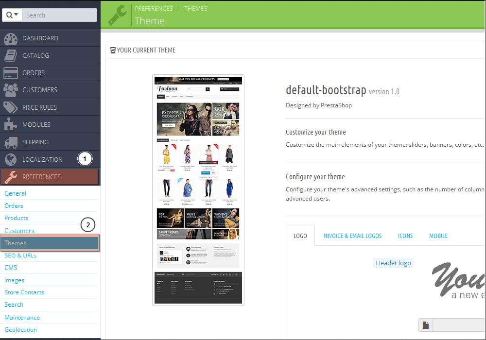 PrestaShop 1 6 x  How to add theme manually in admin panel
