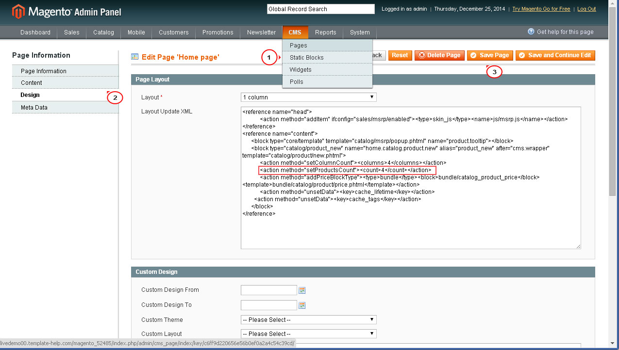 Magento How To Change Number Of New Products On Home Page Template Monster Help