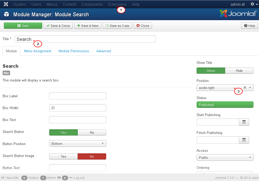 Joomla 3 x  How to enable and manage search - Template Monster Help