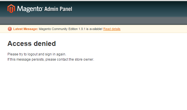 Bootstrap Access Denied Page Template