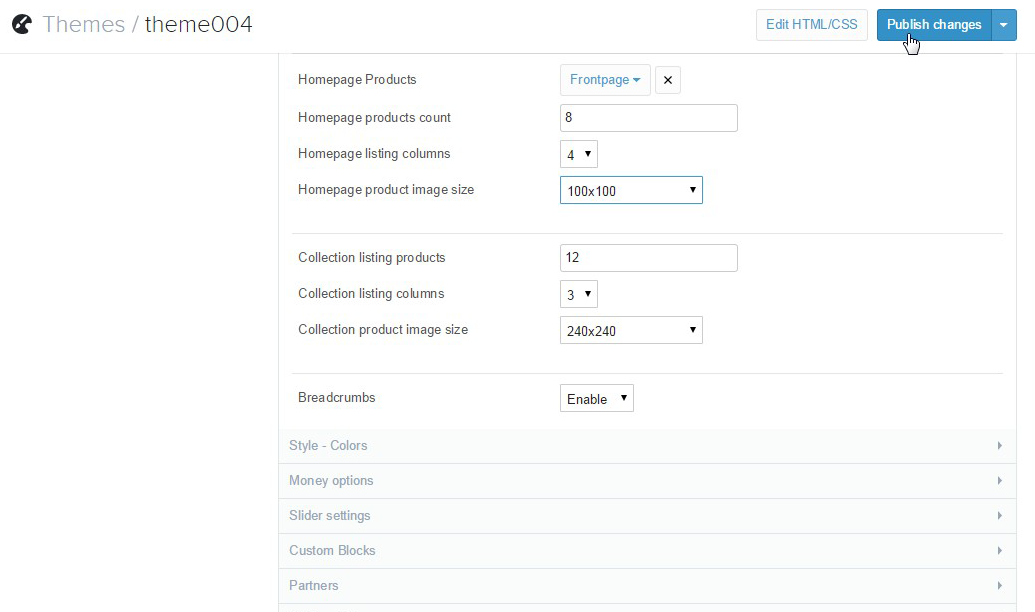 Shopify  How to change predefined images dimensions - Template