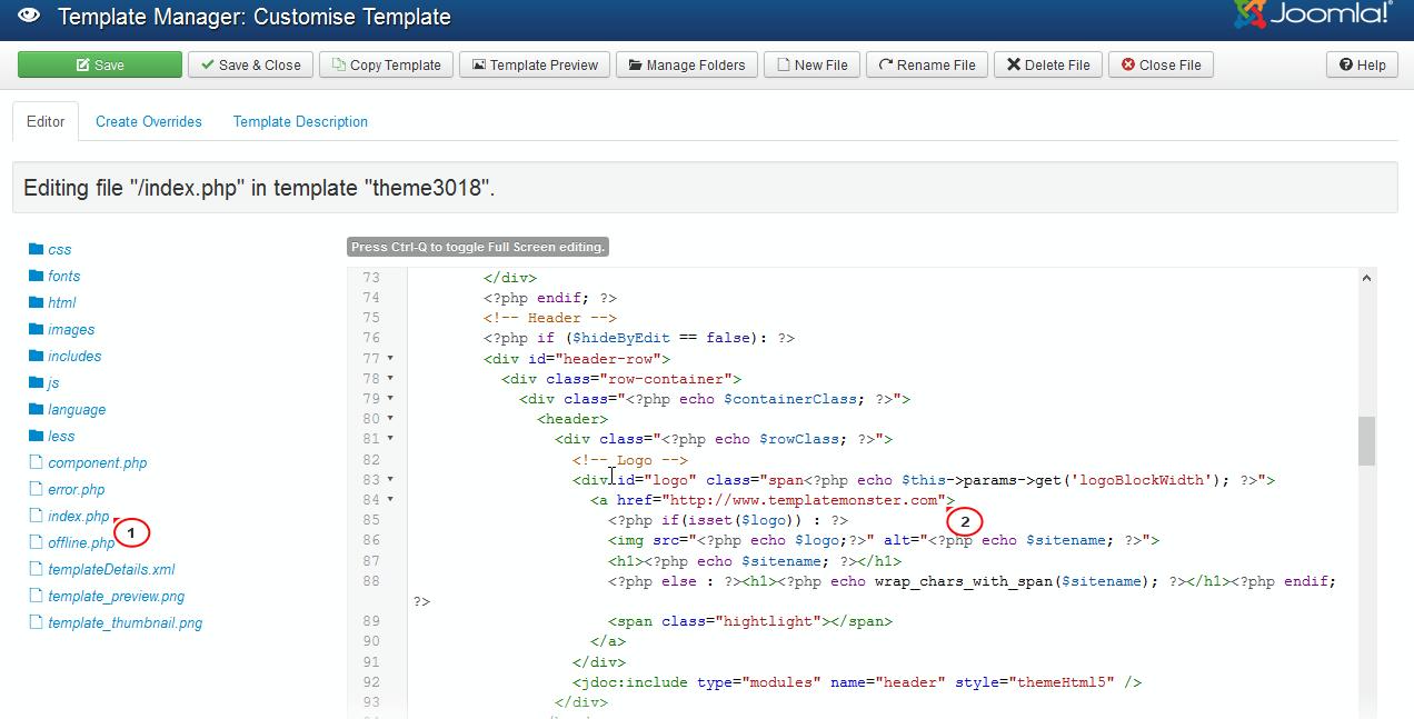 Joomla 3.x. How to assign a custom link for logo - Centro de Ayuda ...