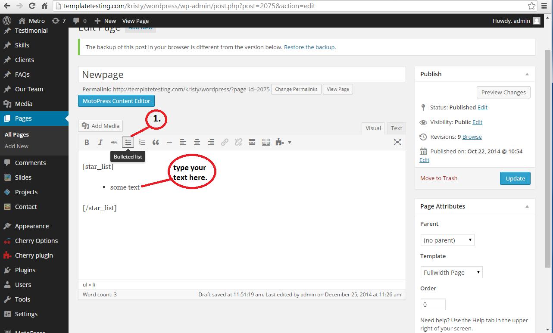 Screen2 Customlist Wordrpess