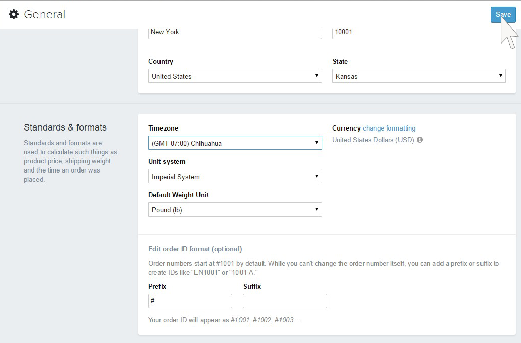 Shopify How To Change Timezone And Unit System Of Your Store