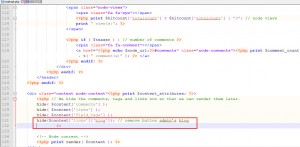 Drupal. How to remove admins blog and comments links from blog page-3