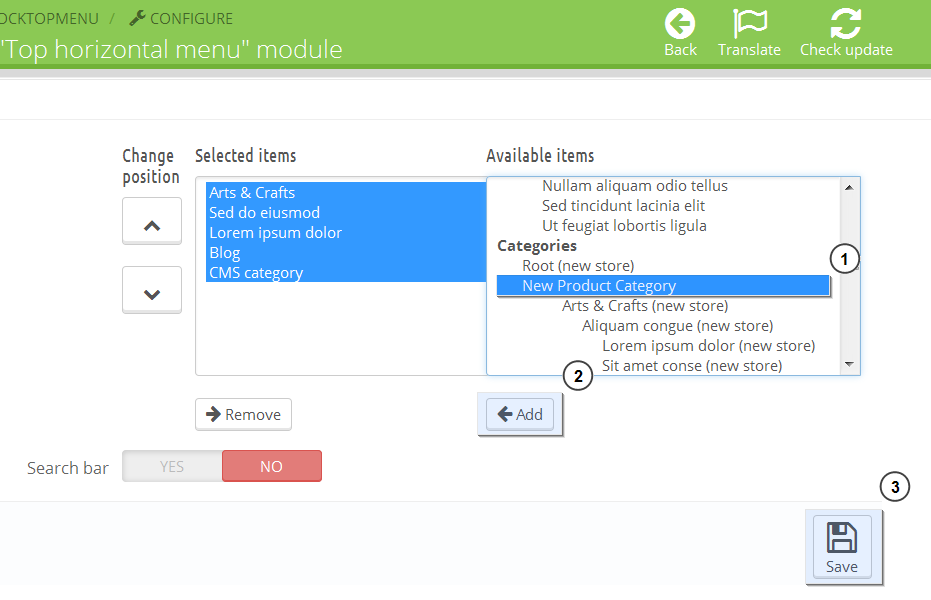 PrestaShop 1 6 x  How to add drop down menus in