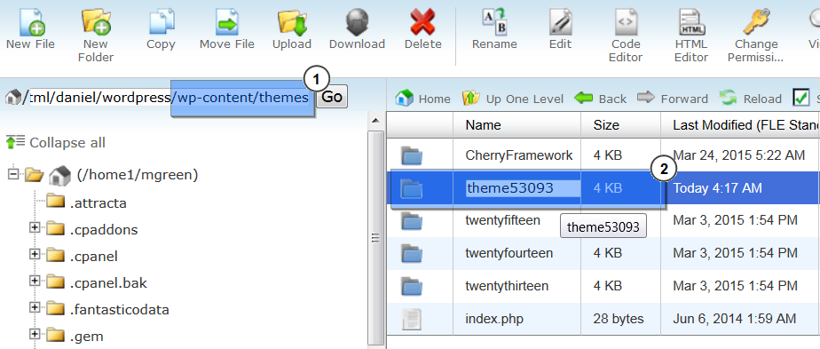 wordpress template folder - wordpress how to change themexxxxx folder name