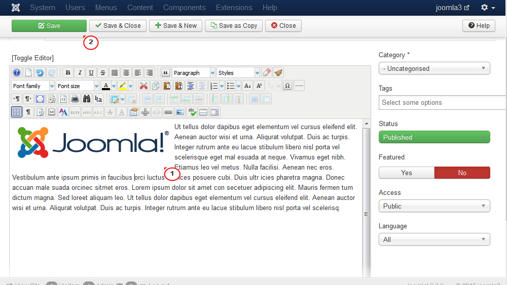 Joomla 3 x  How to wrap text around image with margins