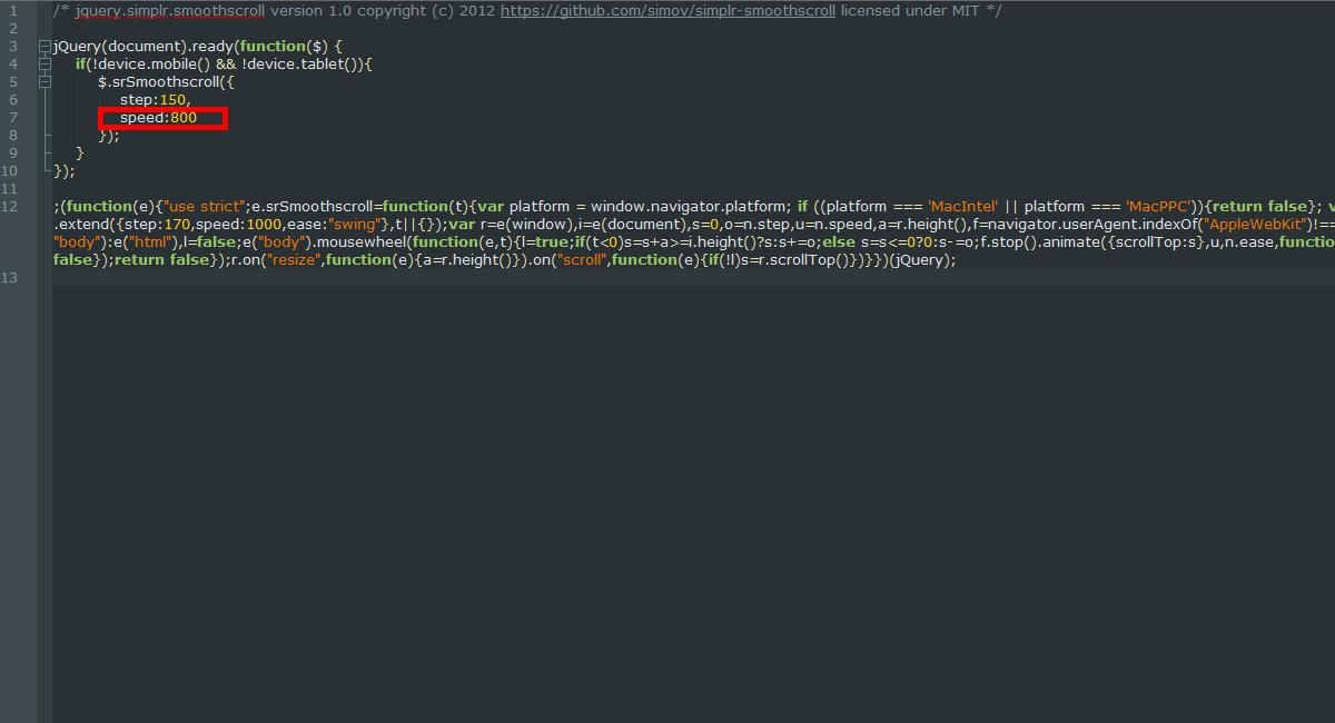 WordPress  How to change website scroll speed - Template Monster Help