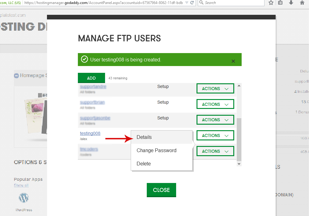 Godaddy ftp not updating