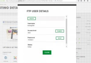 Ftp for Godaddy ecommerce templates