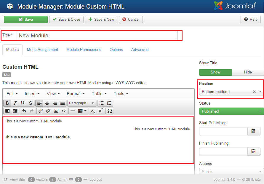 Joomla 3 x how to add custom html module template for How to upload a template in joomla