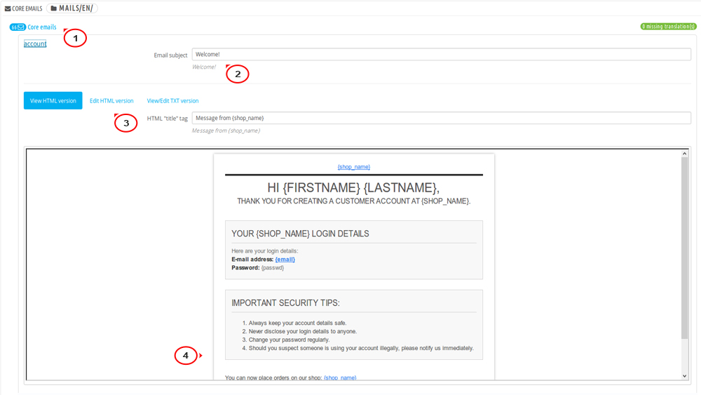 Prestashop 16x How To Edit Order Confirmation And Registration