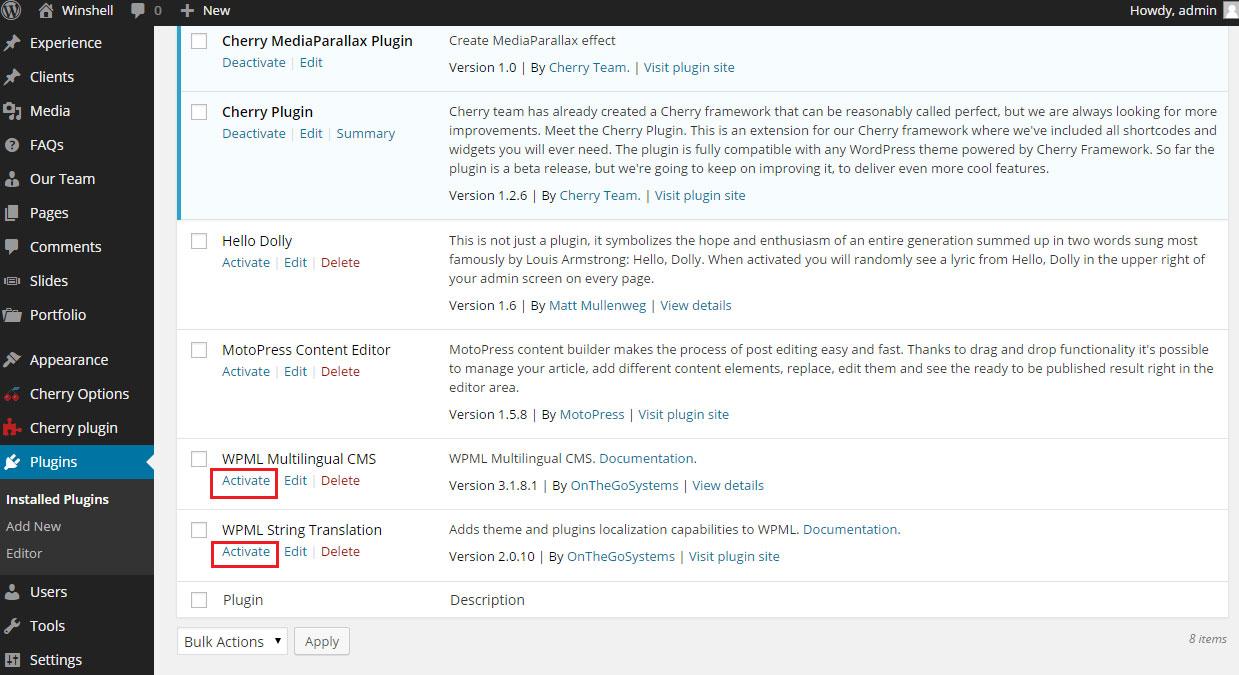 WordPress. How to configure multilanguage website using