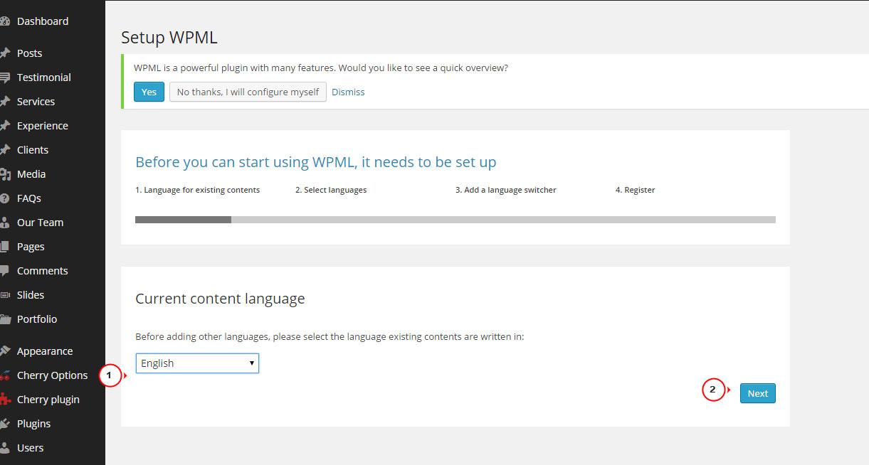 wordpress multi language plugin
