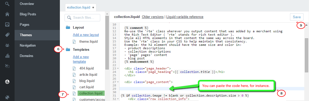 Shopify. How to add/remove tag filter in Collections pages ...