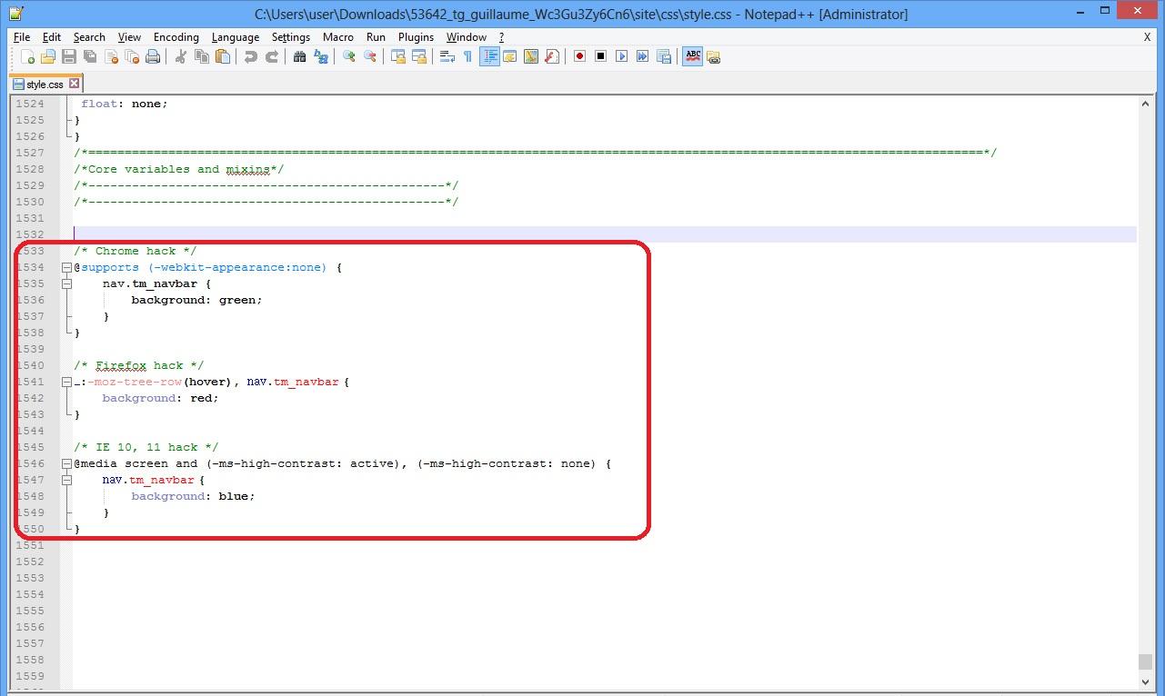 Wie man CSS Regeln (Stile) für einen bestimmten Browser erstellt ...