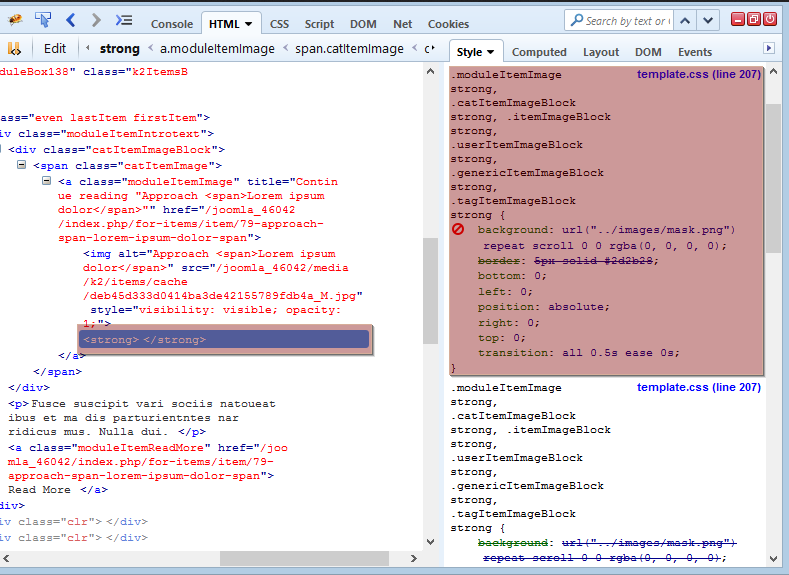 Joomla 3 x  How to remove image overlay effect - Template Monster Help