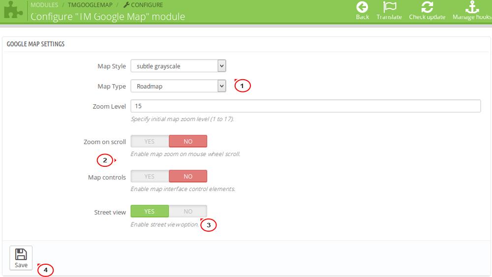 Prestashop 1 6 X How To Manage Tm Google Map Module Template