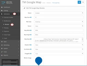 Opencart2_How_to_manage_TM_Google_map_module_1