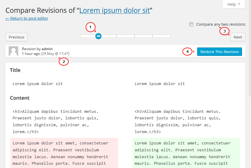 WordPress. Wie man die letzten Änderungen rückgängig macht, die an ...