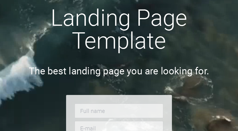 Landing Page  How to replace video background with an image