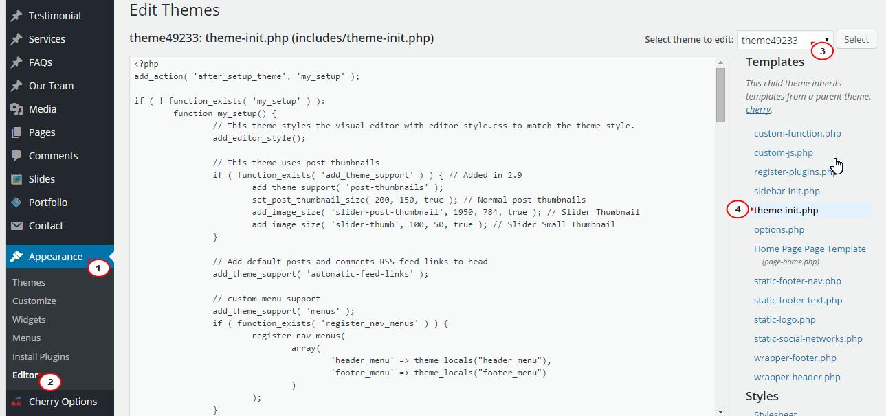 Wordpress cherry 3 x how to remove custom post types from for Wordpress custom menu template