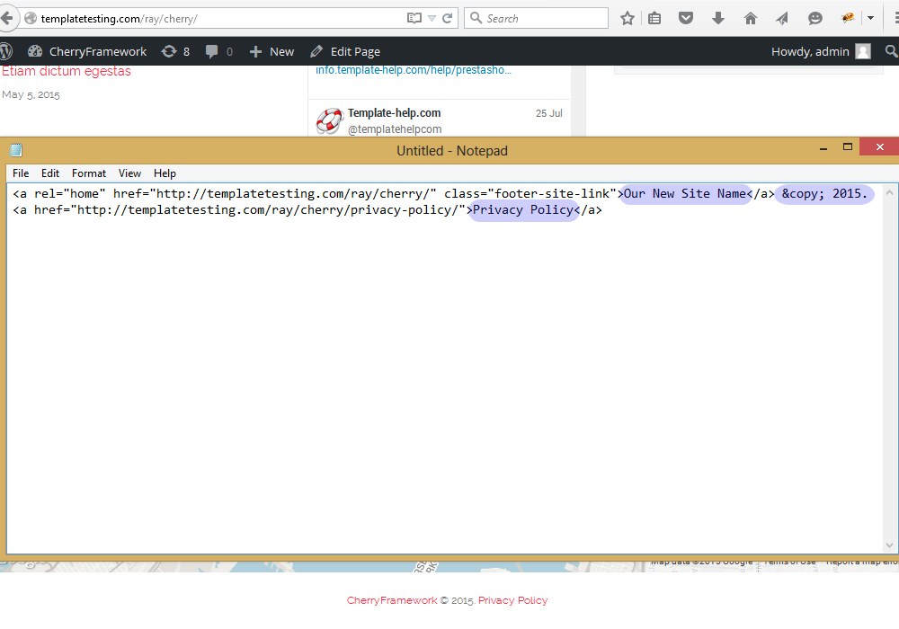 Cherryframework 4 how to edit footer copyright notification cherry4copyright4 pronofoot35fo Image collections