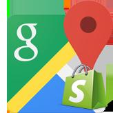 Shopify. Как управлять картой Google