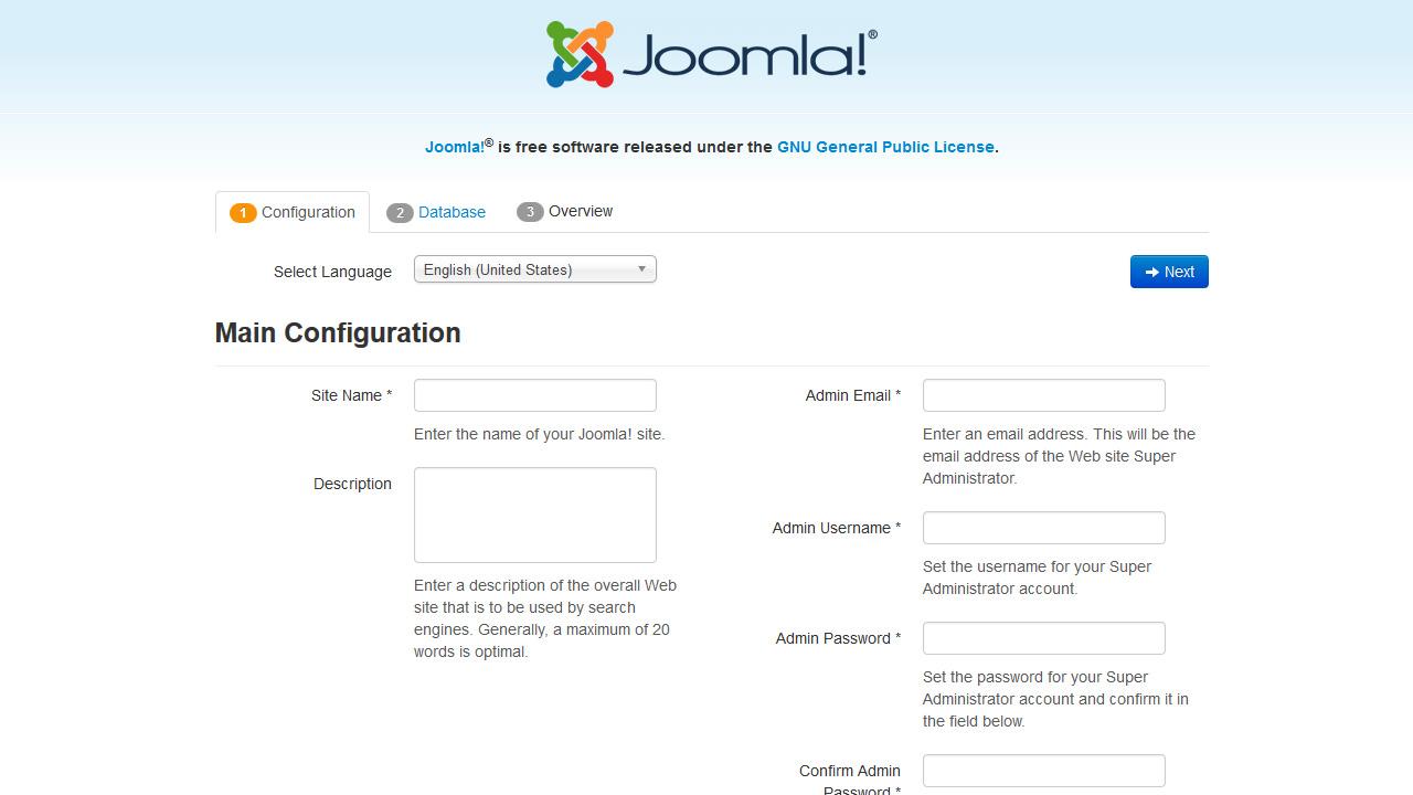 Joomla 3.x. Wie man die Joomla Engine und Vorlage auf GoDaddy ...