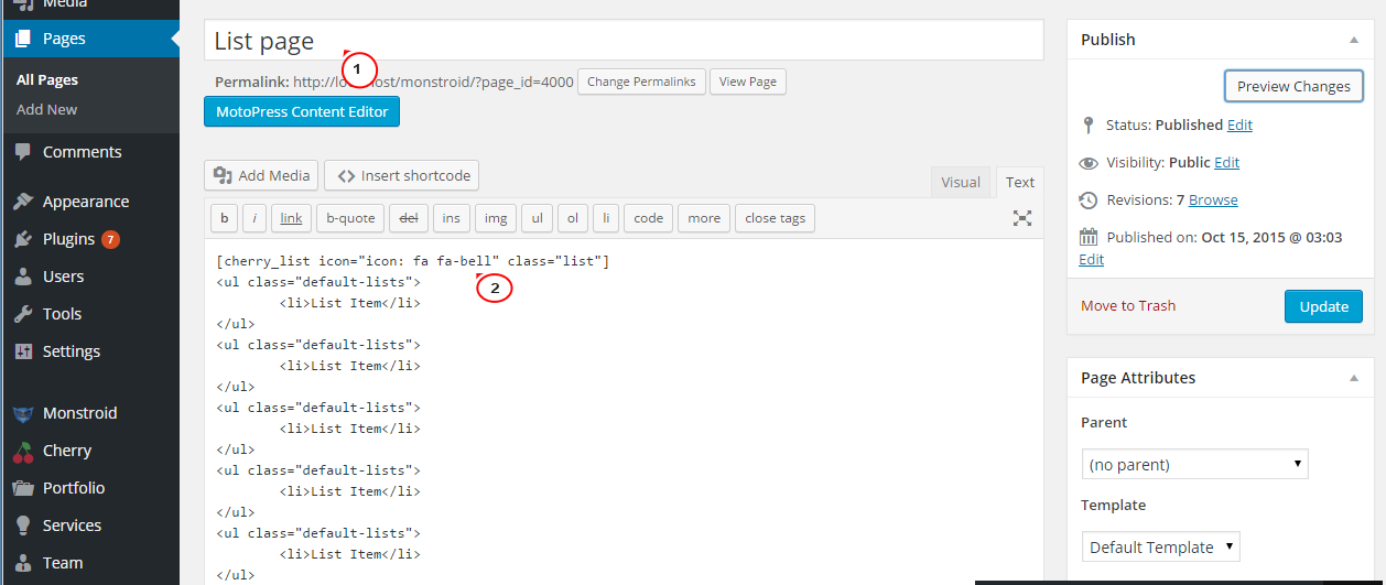 CherryFramework 4.x. How to change icons generated with list ...