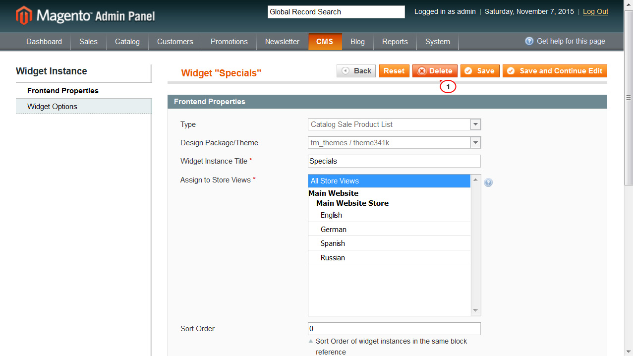 """Magento. How to disable """"Specials"""" block on home page"""