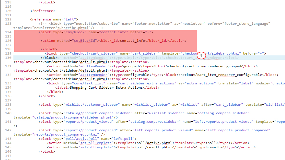 Magento. How to add static blocks to product details pages