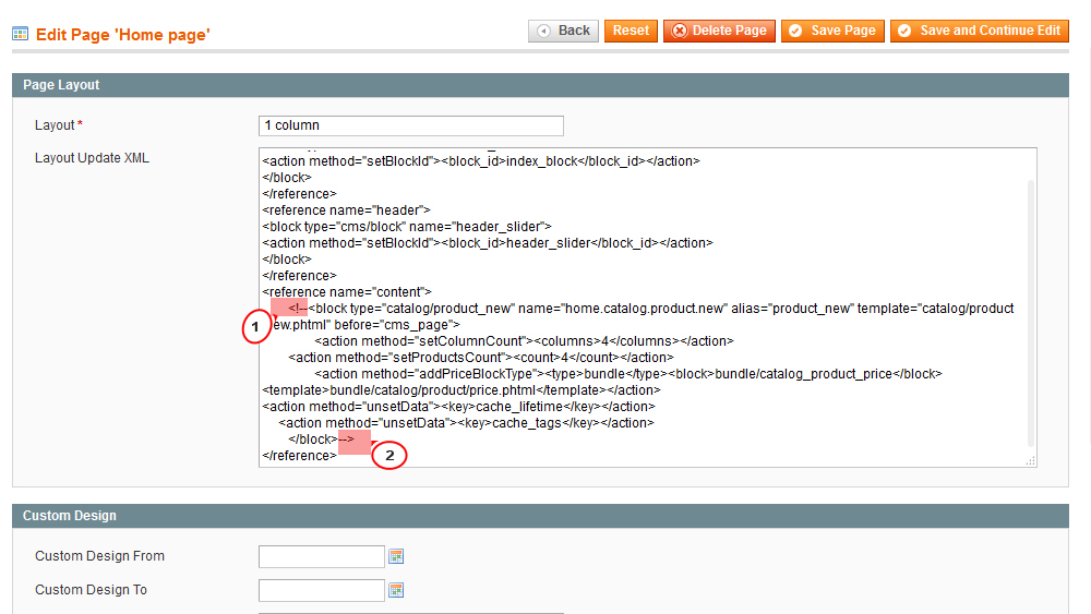 """Magento. How to disable """"New products"""" block on home page"""