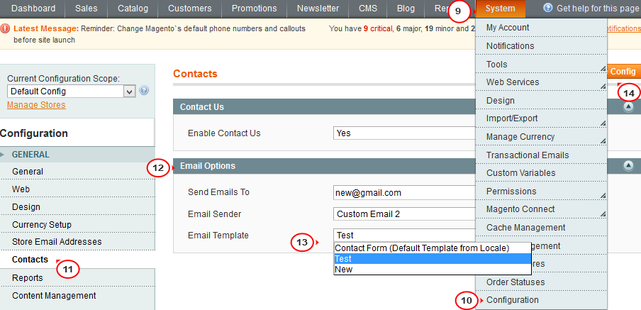 Magento How To Edit Contact Us Page Starting From Template - Contact us email template