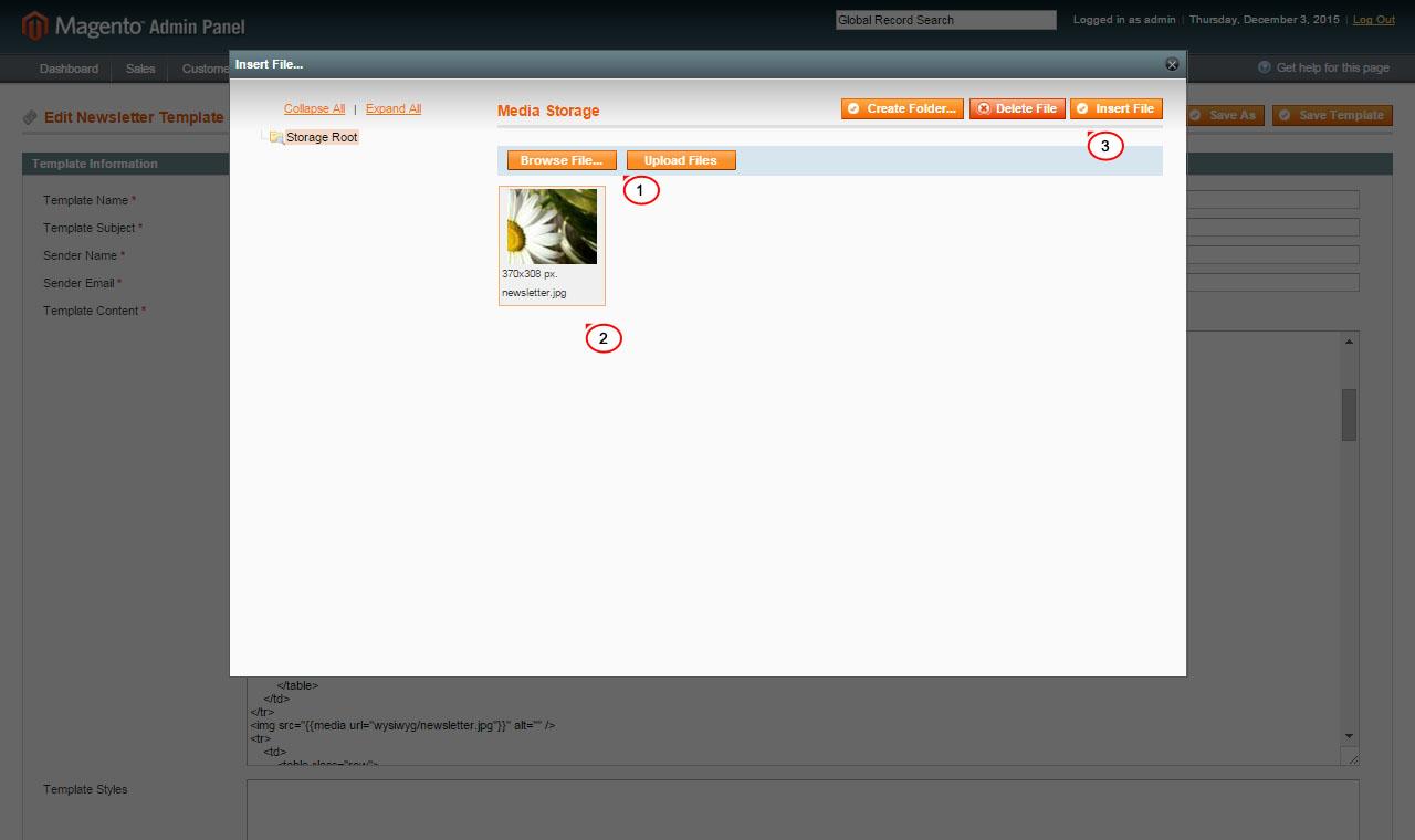 Magento. Wie man ein Bild zum Newsletter hinzufügt - Hilfe von ...