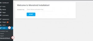 Monstroid. How to install a template on localhost-9