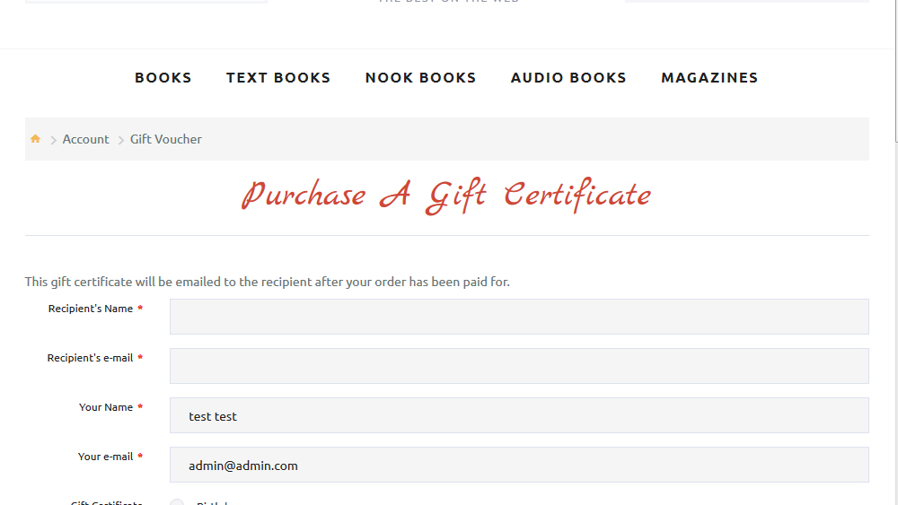 How To Edit The Title And The Content Of The Gift  Gift Certificate Template Pages