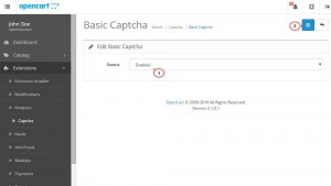 OpenCart 2.x. How to manage Captcha and reCAPTCHA-3