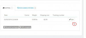 PrestaShop 1.6.x. How to add a courier tracking number to your customer's order3